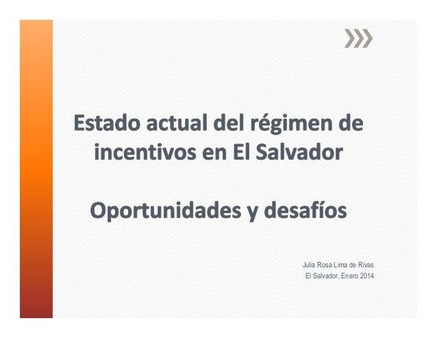 Julia Rosa Lima de Rivas El Salvador, Enero 2014