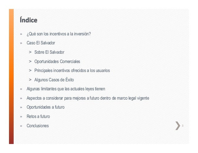 El Salvador, incentivos estado actual - Julia Lima de Rivas Slide 3