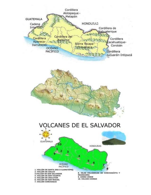 El Salvador Mapa Relieve