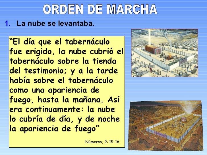 """ORDEN DE MARCHA <ul><li>La nube se levantaba. </li></ul>"""" El día que el tabernáculo fue erigido, la nube cubrió el taberná..."""