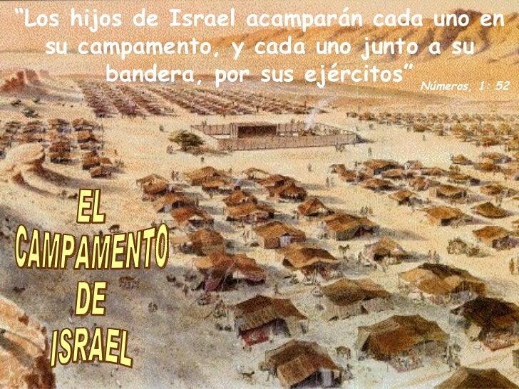 """EL CAMPAMENTO DE ISRAEL """" Los hijos de Israel acamparán cada uno en su campamento, y cada uno junto a su bandera, por sus ..."""