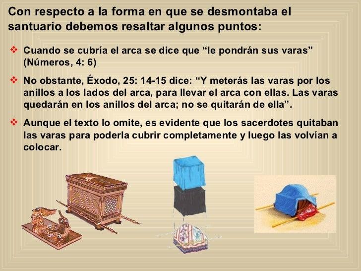 Con respecto a la forma en que se desmontaba el santuario debemos resaltar algunos puntos: <ul><li>Cuando se cubría el arc...