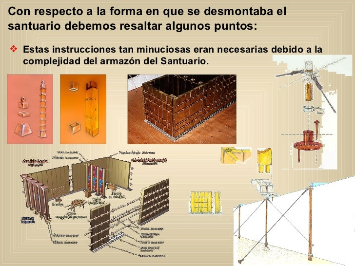 Con respecto a la forma en que se desmontaba el santuario debemos resaltar algunos puntos: <ul><li>Estas instrucciones tan...