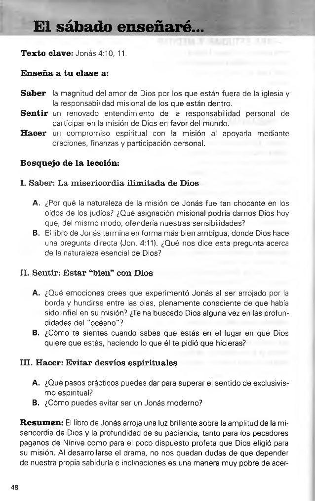 El Sabado Ensenare Leccion 4 La Epopeya De Jonas Escuela Sabati