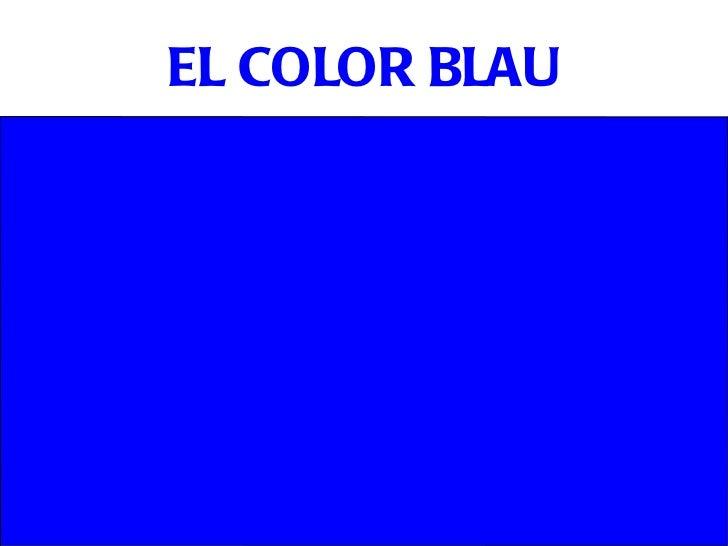 EL COLOR BLAU