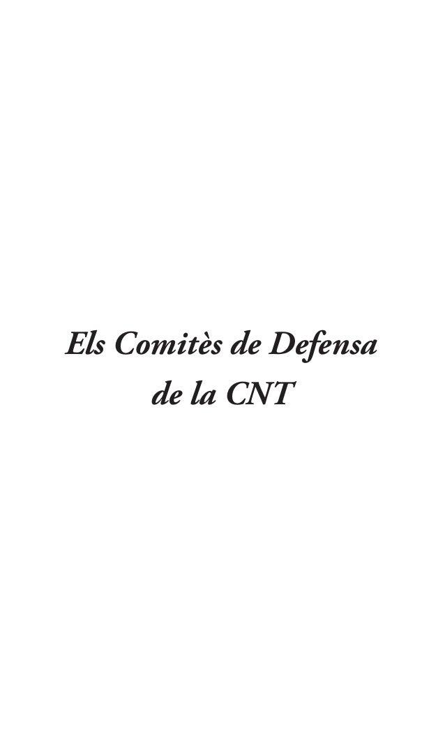 Els Comitès de Defensa de la CNT