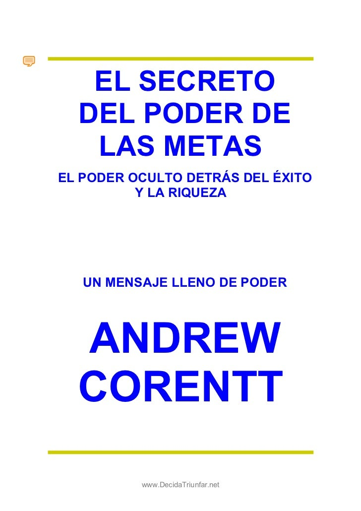 EL SECRETO  DEL PODER DE   LAS METASEL PODER OCULTO DETRÁS DEL ÉXITO          Y LA RIQUEZA   UN MENSAJE LLENO DE PODER  AN...