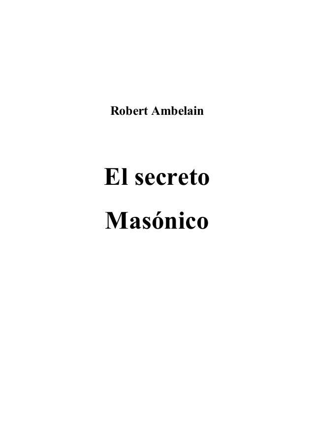 Robert Ambelain El secreto Masónico