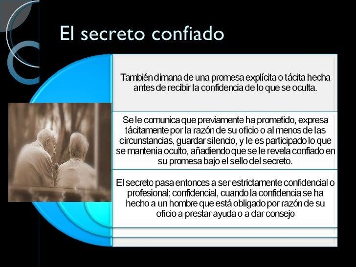 El secreto confiado