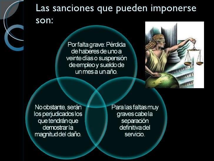 Las sanciones que pueden imponerse son: