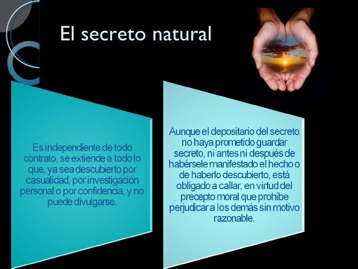 El secreto natural