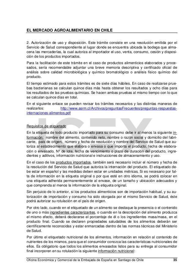 El sector agroalimentario en chile for Oficina consumo santiago