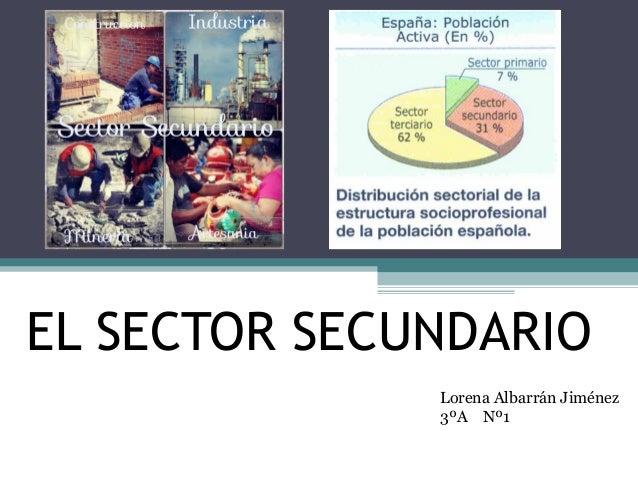 EL SECTOR SECUNDARIOLorena Albarrán Jiménez3ºA Nº1