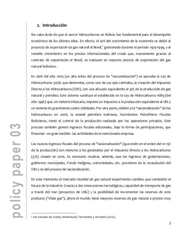 El sector hidrocarburos en Bolivia  Slide 3