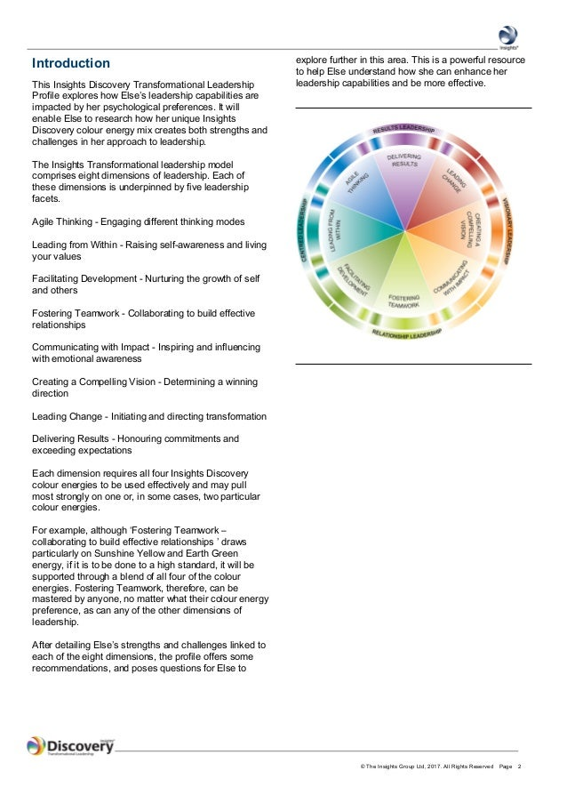 InsightsTransformational Leadership Profile - Else Gammelgaard Madsen Slide 2