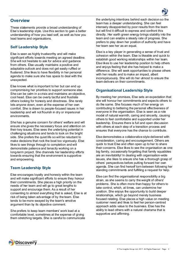 InsightsTransformational Leadership Profile - Else Gammelgaard Madsen Slide 3