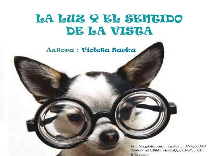 LA LUZ Y EL SENTIDO DE LA VISTA<br />Autora : Violeta Sacka<br />http://t2.gstatic.com/images?q=tbn:ANd9GcQdUTvAKPPjynHuBt...