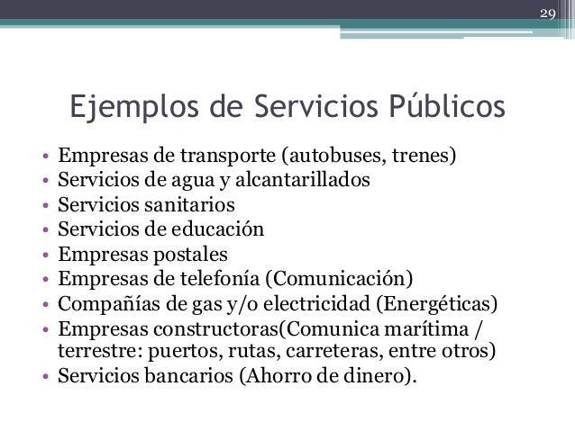 El servicio publico for Tipos de servicios de un hotel