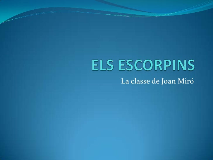 La classe de Joan Miró