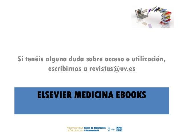 Libros e de elsevier en la universidad de valencia for Universidad de valencia online
