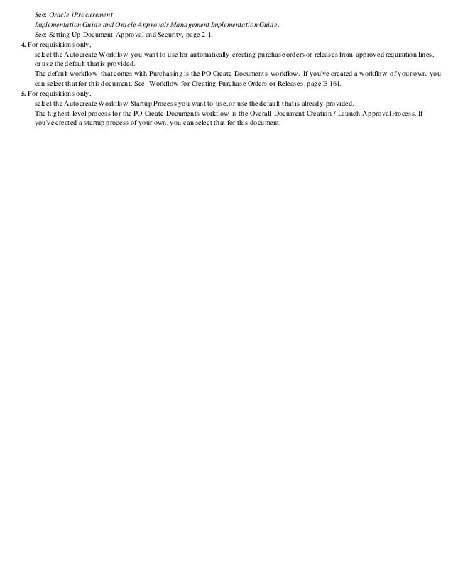 Oracle Purchasing R12 Setup Steps