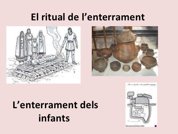 El ritual de l'enterrament  L'enterrament dels infants