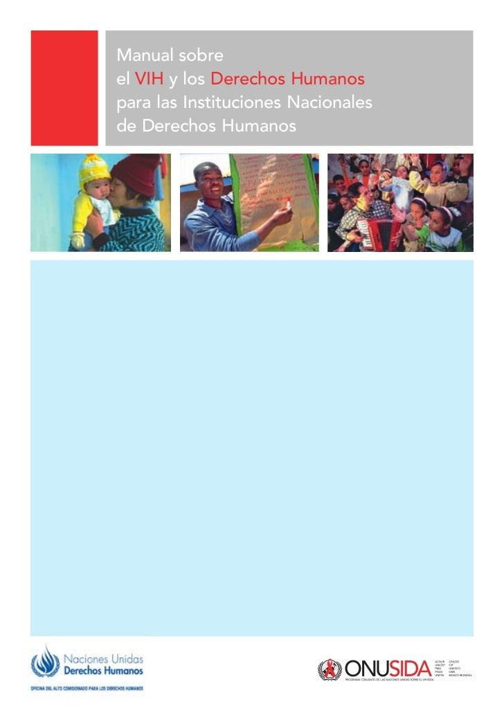 Manual sobreel VIH y los Derechos Humanospara las Instituciones Nacionalesde Derechos Humanos
