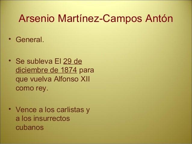 Constitución de 1876: • Inspirada por Cánovas. • La de más larga duración de la historia de España. • Amplios poderes para...
