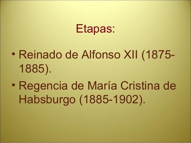 EL RÉGIMEN DE LA RESTAURACIÓNEL RÉGIMEN DE LA RESTAURACIÓN YY EL SISTEMA CANOVISTAEL SISTEMA CANOVISTA 1875 - 19021875 - 1...