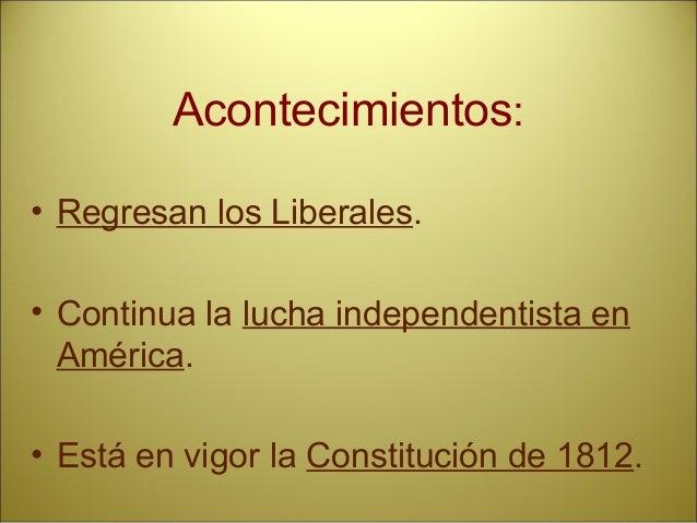 Isabel II • Etapas. • Pronunciamientos o sublevaciones más importantes. • Acontecimientos. • Protagonistas. • Constitucion...