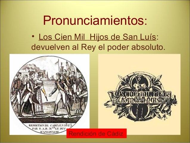 Sucesión de acontecimientos relevantes. La alternancia política durante los periodos de Regencia (1833-1843) • Regencia de...