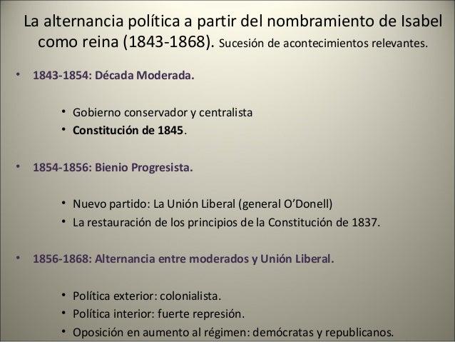 Constituciones: • Estatuto Real, 1834. en realidad, una Carta Otorgada • Constitución de 1837. • Constitución de 1845. • C...