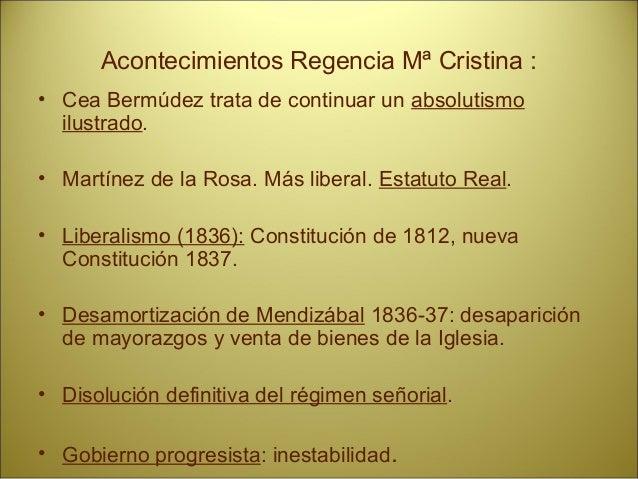 Acontecimientos: • Gobierno de Narváez: mano dura, represión, falta de libertades. • Segunda guerra Carlista (1846-1849). ...