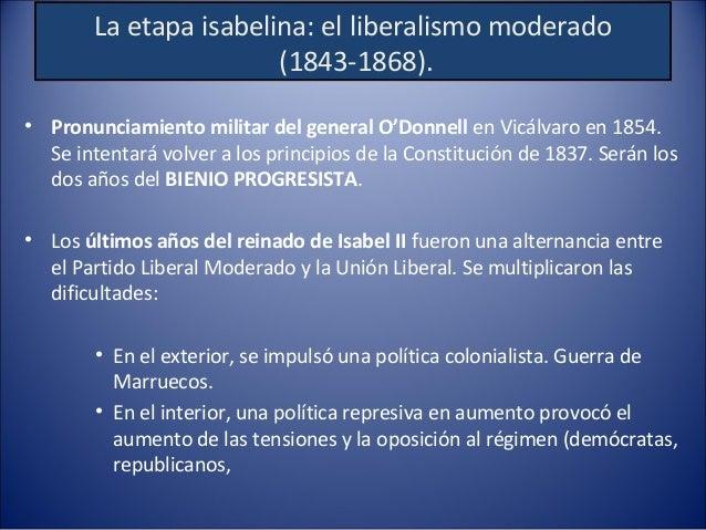 Bienio Progresista (1854-1856) • Revolución de 1854: oposición a los planes más autoritarios de los moderados. Es: – tanto...