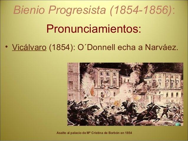 . MAYORÍA DE EDAD DE ISABEL II Unionistas y Moderados • Pronunciamientos. • Acontecimientos.