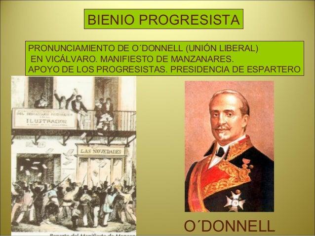 Reinado Isabel II. Acontecimientos: • Vuelve la Constitución del 45. • Alternan en el poder O´Donnell y Narváez. • Ley Moy...
