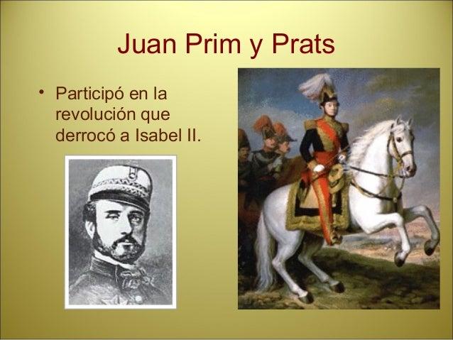 Etapas: • Gobierno Provisional (octubre 1868 - junio 1869) y Regencia de Serrano (1870). • Monarquía de Amadeo de Saboya (...