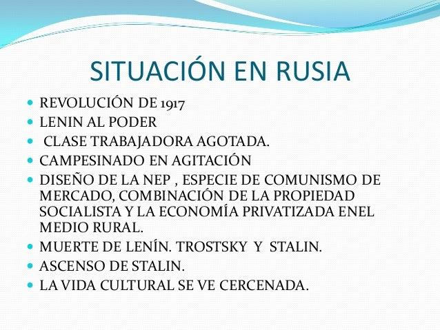 SITUACIÓN EN RUSIA  REVOLUCIÓN DE 1917  LENIN AL PODER  CLASE TRABAJADORA AGOTADA.  CAMPESINADO EN AGITACIÓN  DISEÑO ...