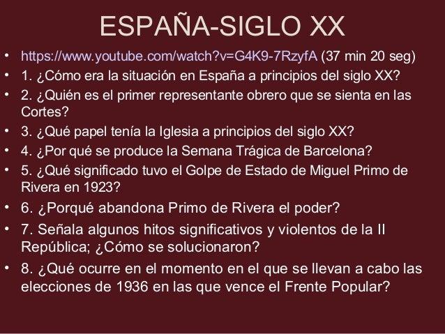 ESPAÑA-SIGLO XX •5. ¿Qué significado tuvo el Golpe de Estado de Miguel Primo de Rivera en 1923? •El rey no impidió el golp...