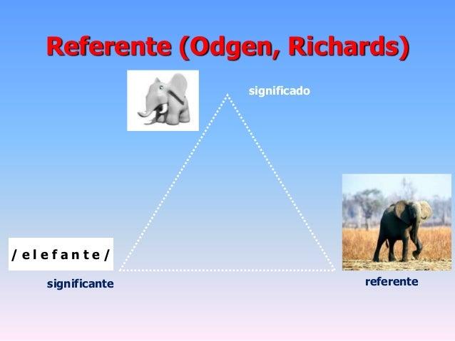 Referente (Odgen, Richards)significante referentesignificado/ e l e f a n t e /