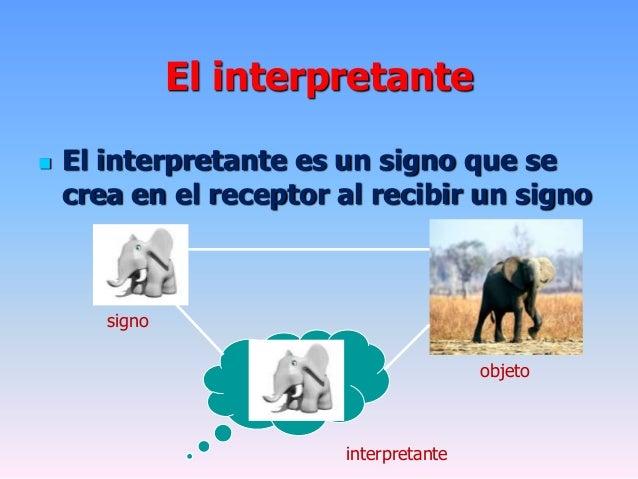 El interpretante El interpretante es un signo que secrea en el receptor al recibir un signoobjetointerpretantesigno