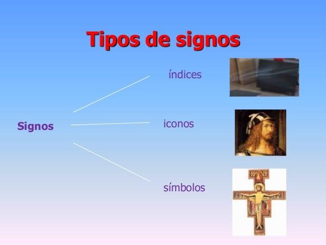 Tipos de signosSignosíndicesiconossímbolos