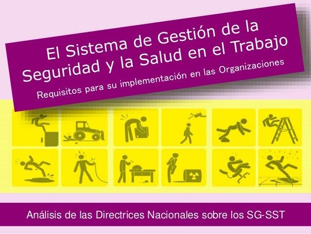 Análisis de las Directrices Nacionales sobre los SG-SST 1