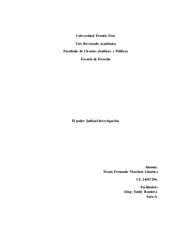 Universidad Fermín Toro Vice Rectorado Académico Facultada de Ciencias Jurídicas y Políticas Escuela de Derecho El poder J...