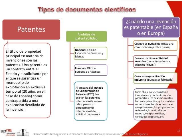 El sistema de publicaci n cient fica tipos de documentos acad micos - Oficina europea de patentes y marcas alicante ...