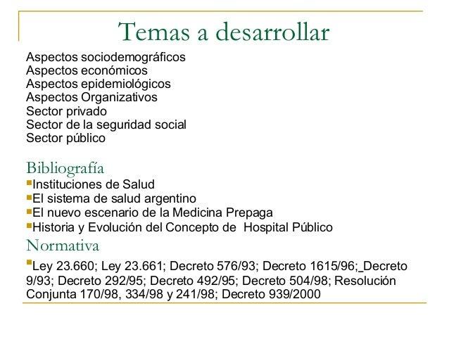 El sistema de salud en argentina Slide 2