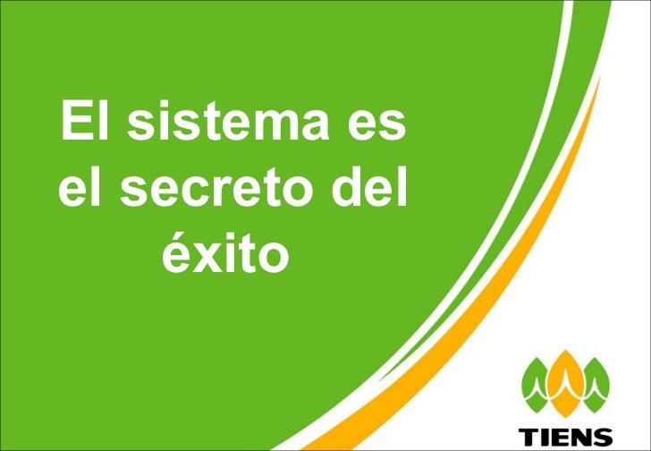 El sistema es el secreto del éxito