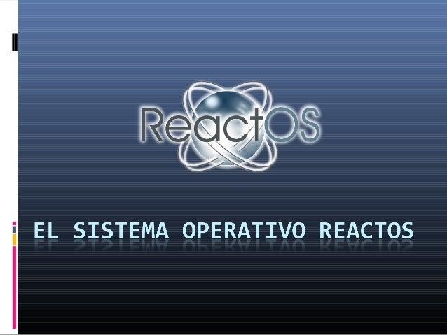ReactOS es un sistema operativo Libre y de Código Abierto basado en la arquitectura Windows NT, incluyendo soporte para lo...