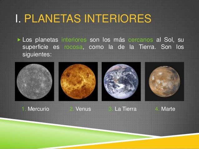 El sistema solar educaci n primaria - Caracteristicas de los planetas interiores ...