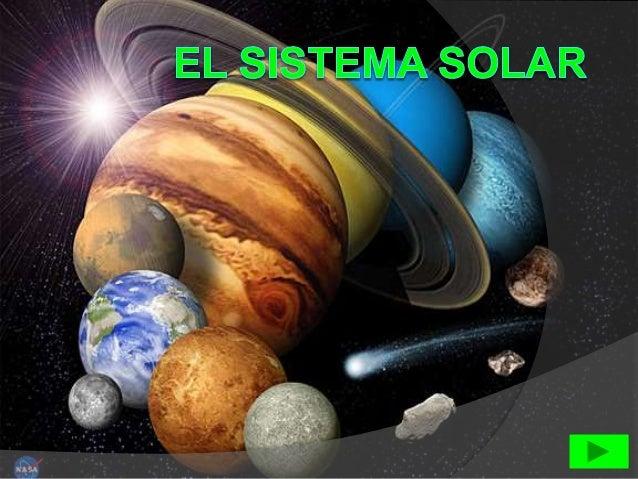 SISTEMA SOLAR Está formado por:  una estrella central : el Sol  ocho planetas : Mercurio ,Venus ,Tierra ,Marte ,Júpiter ...